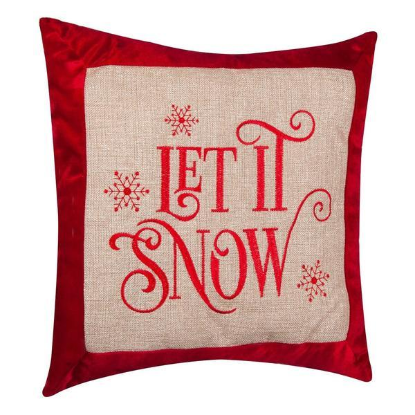 Perna decorativa Let It Snow