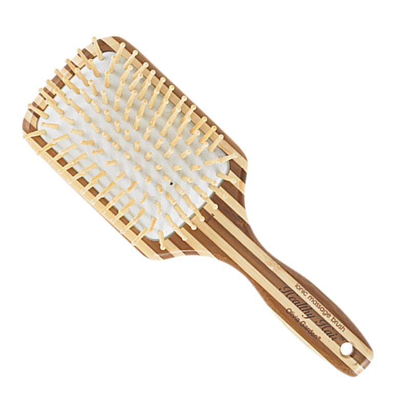 Perie Bambus Lata - Olivia Garden Healthy Hair Ionic Massage HH4 Large Paddle imagine produs