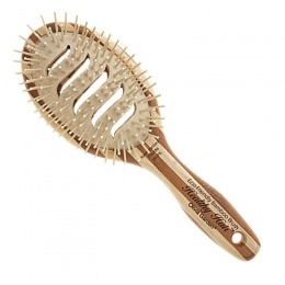 Perie Bambus Ovala cu Orificii - Olivia Garden Healthy Hair Ionic Paddle HH - P5 Vent Brush