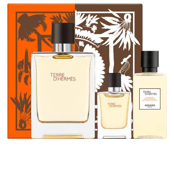 Set cadou Apă de parfum 75ml + mini parfum 5ml + gel dus 40ml HERMES Terre d'Hermes imagine produs