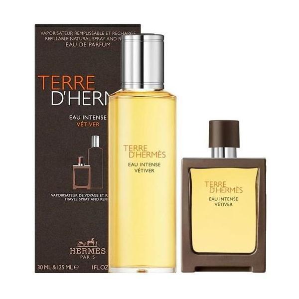 Set cadou Apă de parfum 30 ml + 125 ml HERMES Terre d'Hermes Eau Intense Vetiver Refill imagine produs