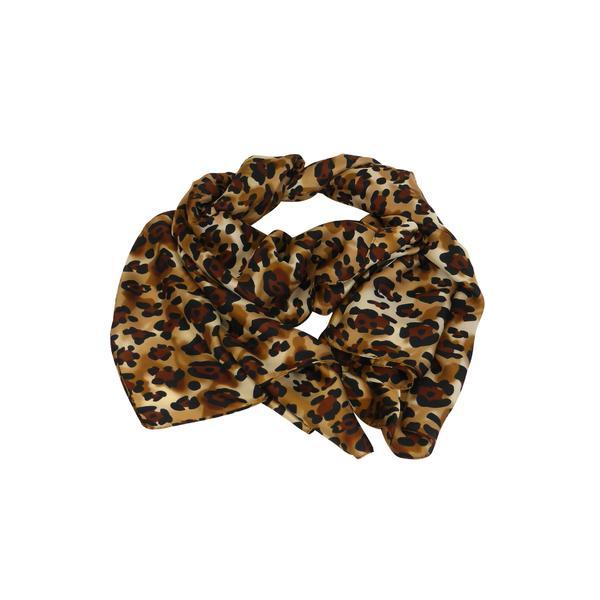 Esarfa 180 cm x 90 cm, maro cu imprimeu animal – Univers Fashion