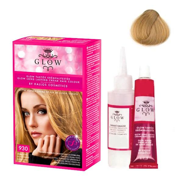 DETERIORAT - Vopsea Permanenta - Kallos Glow Long Lasting Cream Hair Colour Nuanta 930 Blond Auriu imagine produs