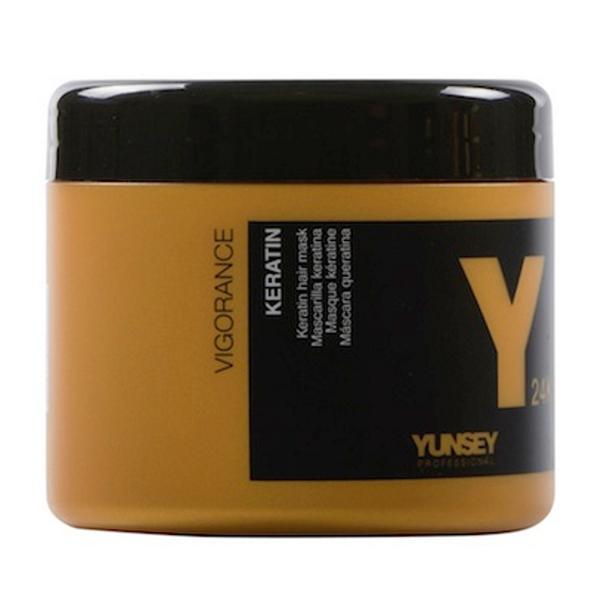 Masca de Par cu Keratina - Yunsey Professional Keratin 24K Mask, 500 ml imagine