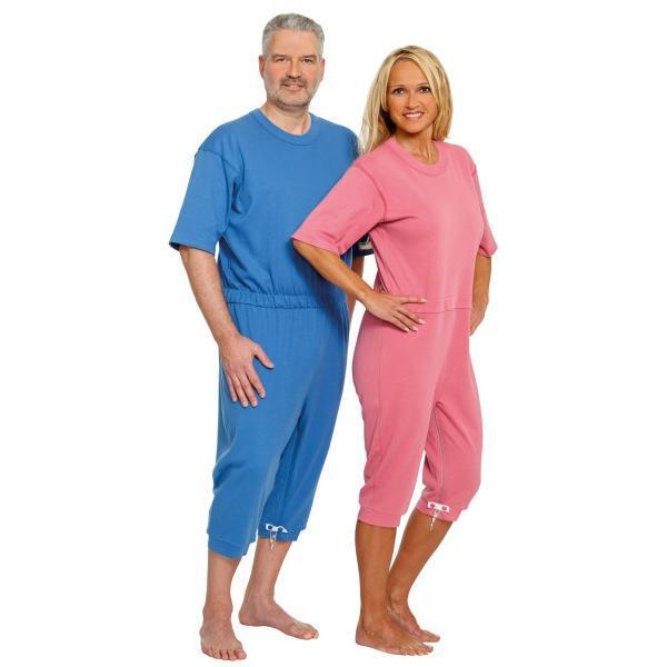 Pijama cu maneca scurta Suprima Roz-pudrat Mar M