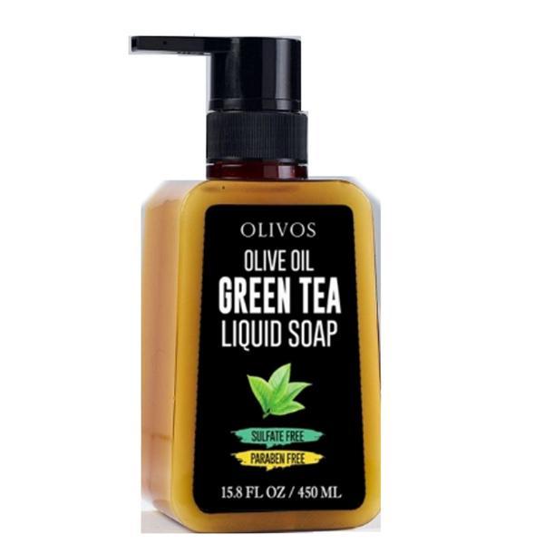 Sapun Lichid cu Ulei de Masline si Ceai Verde Olivos, 450 ml imagine produs