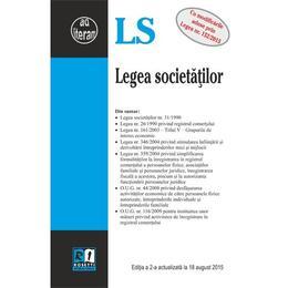 Legea Societatilor Act. 18 August 2015, editura Rosetti