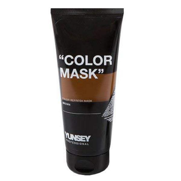 Masca Coloranta Maro - Yunsey Professional Color Mask Brown, 200 ml imagine