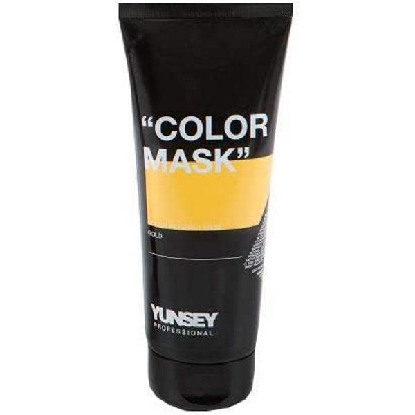 Masca Coloranta Auriu - Yunsey Professional Color Mask Gold, 200 ml imagine