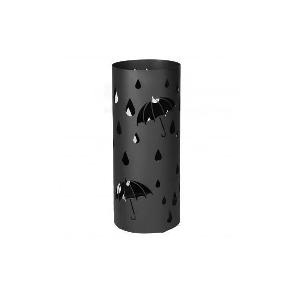 Suport umbrele rotund Metal Negru 49 x Ø 195 cm