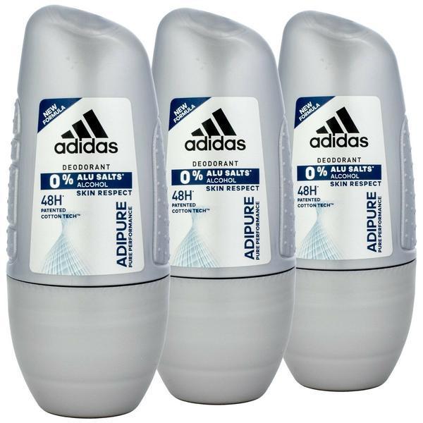 Pachet promo - Set 3 x 150ml - Deodorant roll-on anti-perspirant Adidas Adipure imagine