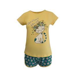 pijama-dama-univers-fashion-bluza-galben-cu-imprimeu-pisica-pantaloni-scurti-verde-cu-imprimeu-buline-xl-1.jpg