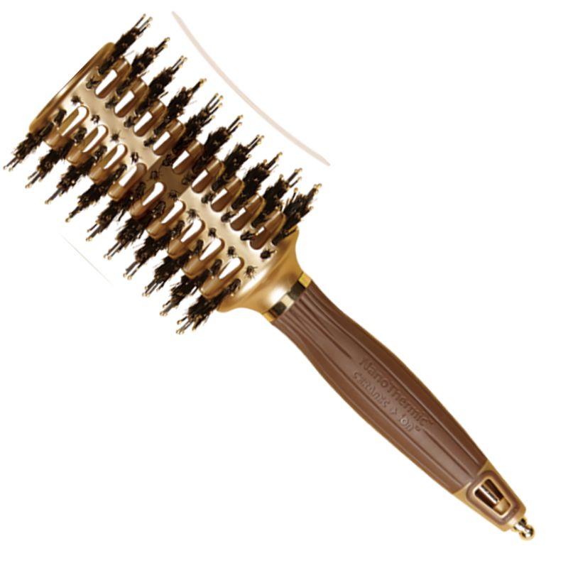 Perie Curbata Termica Mare - Olivia Garden NanoThermic Contour Vent Hairbrush Large NT - CVL imagine produs