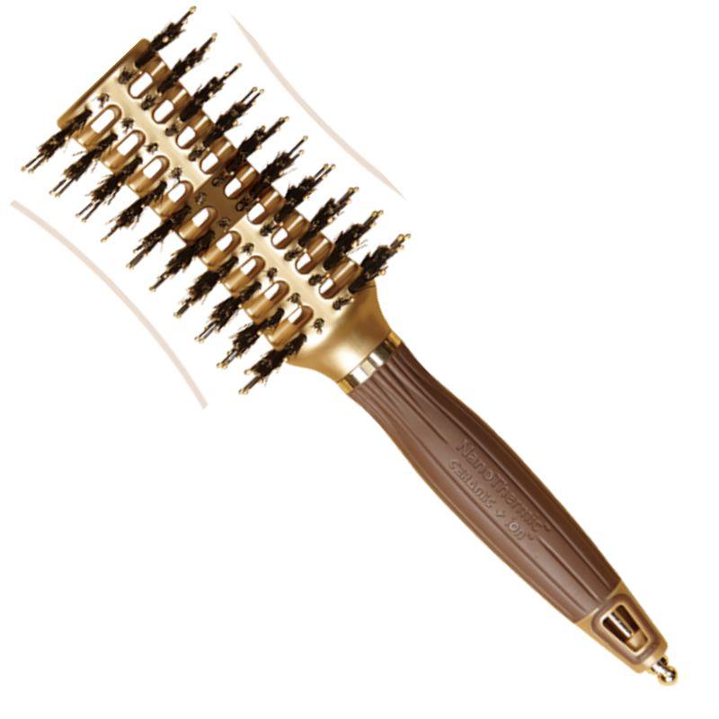 Perie Curbata Termica Medie - Olivia Garden NanoThermic Contour Vent Hairbrush Medium NT - CVM imagine produs