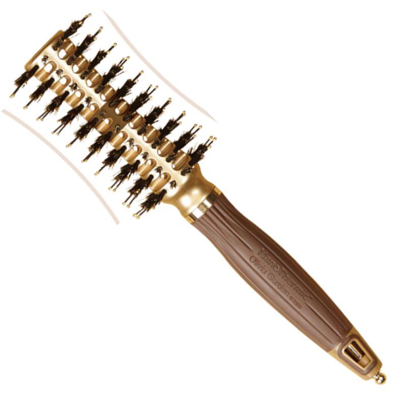 Perie Curbata Termica Mica - Olivia Garden NanoThermic Contour Vent Hairbrush Small NT - CVS imagine produs