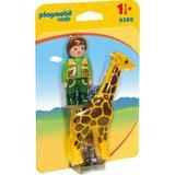 Playmobil 1.2.3 Ingrijitor Zoo cu girafa