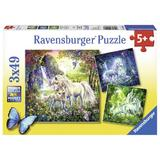 Puzzle unicorni 3x49 piese Ravensburger