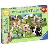 Puzzle ferma animalelor 2x24 piese Ravensburger