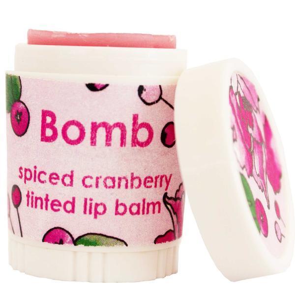 Balsam de buze nuantator Spiced Cranberry Bomb Cosmetics 4.5 g poza