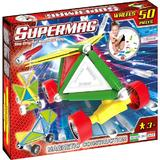 Set constructie magnetic 50 piese Tags Wheels Supermag