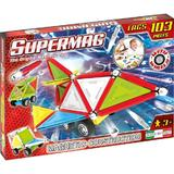 Set constructie magnetic 103 piese Tags Wheels Supermag