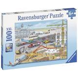 Puzzle santier pe aeroport 100 piese Ravensburger