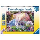 Puzzle Zana si unicorn 100 piese Ravensburger