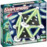 Set consctructie magnetic 48 piese Classic Glow Supermag