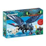 Playmobil Dragons Hiccup, Toothless si pui de dragon