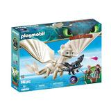 Playmobil Dragons Light Fury, pui de dragon si copii