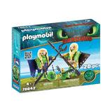 Playmobil Dragons Raffnut si Taffnut in costume de zbor