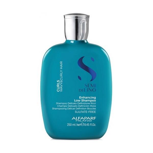 Sampon pentru Par Cret sau Ondulat - Semi di Lino Curls Enhancing Low Shampoo Alfaparf Milano, 250 ml imagine