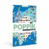 Steagurile Lumii joc creativ cu stickere Poppik