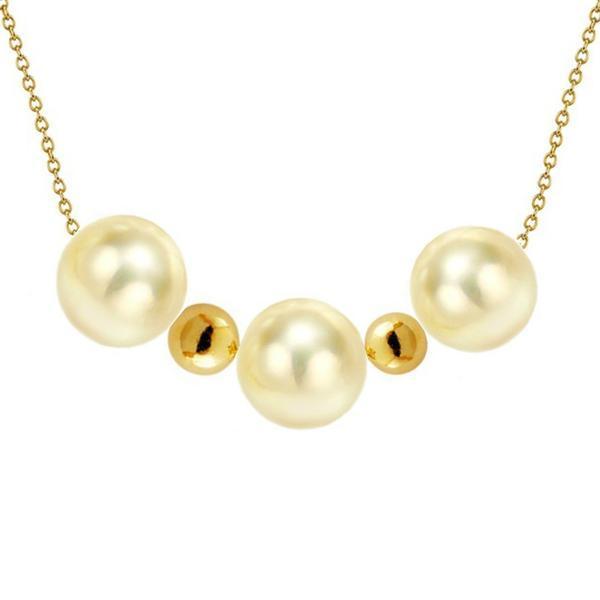 Colier Aur Trio cu Perle Naturale Akoya Light Gold – Cadouri si perle
