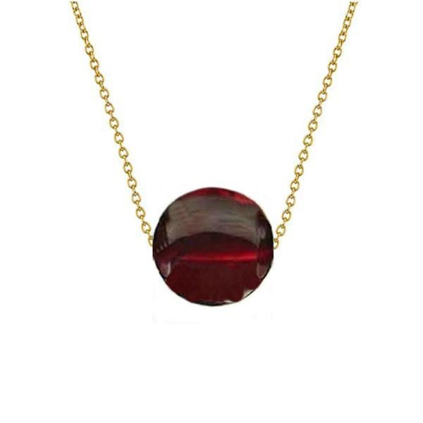 Colier Aur 14 karate cu Granat de 12 mm – Cadouri si perle