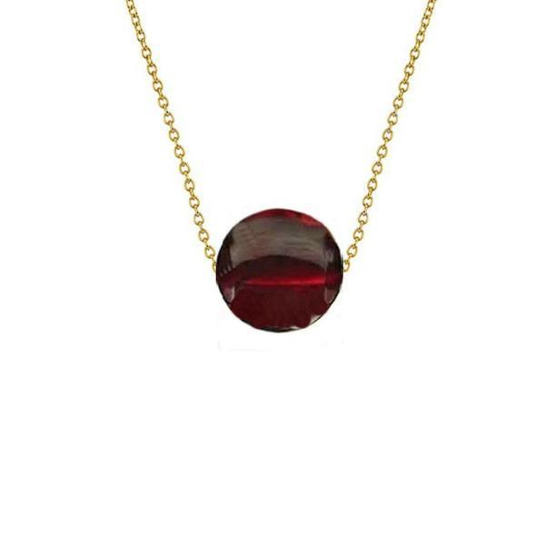 Colier Aur 14 karate cu Granat de 8 mm – Cadouri si perle