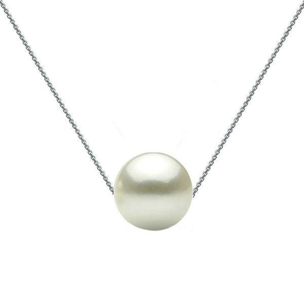 Colier Aur Alb cu Perla Naturala Premium Alba – Cadouri si perle