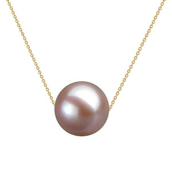 Colier Aur cu Perla Naturala Premium Lavanda – Cadouri si perle