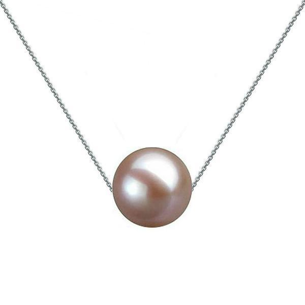 Colier Aur Alb cu Perla Naturala Premium Lavanda – Cadouri si perle