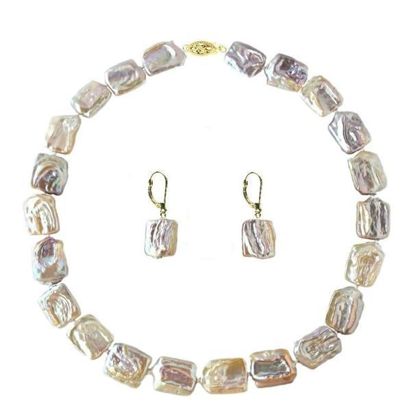 Set Aur 14k Colier si Cercei Perle Naturale Baroque – Cadouri si perle