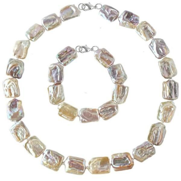 Set Argint 925 Colier si Bratara Perle Naturale Baroque – Cadouri si perle