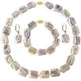 Set Aur 14k Colier Bratara Cercei Perle Naturale Baroque - Cadouri si perle