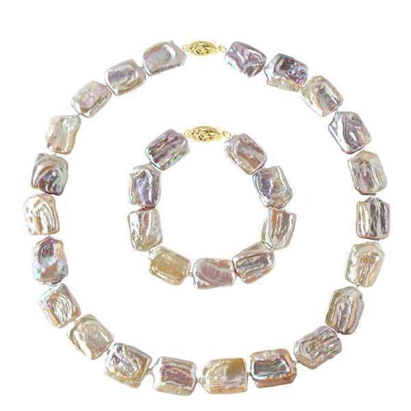 Set Aur 14k Colier si Bratara Perle Naturale Baroque – Cadouri si perle