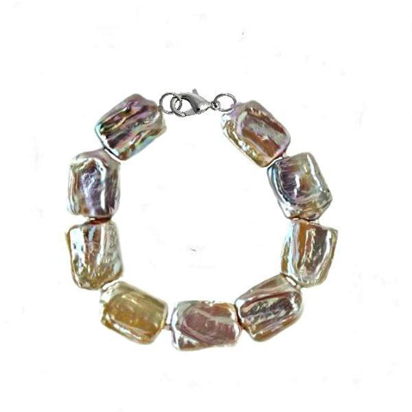 Bratara Perle Naturale Baroque cu Inchizatoare Argint – Cadouri si perle