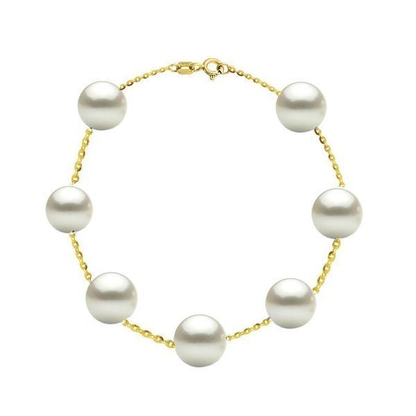 Bratara Office Aur 14k si Perle Naturale Premium de 8 mm – Cadouri si perle