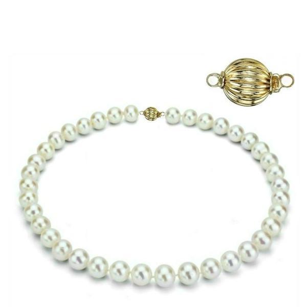 Colier Business Perle Naturale cu Inchizatoare Aur Galben Sferica – Cadouri si perle