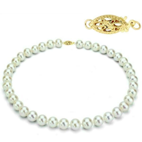 Colier Business Perle Naturale cu Inchizatoare Aur Galben Filigranata – Cadouri si perle
