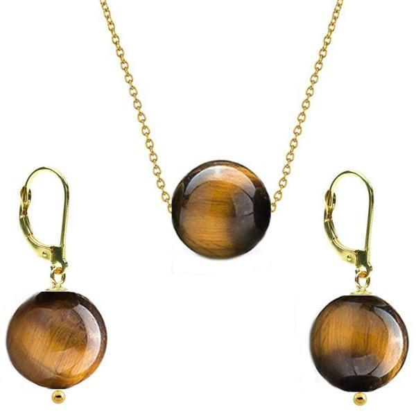 Set Aur 14 Karate si Ochi de Tigru de 12 mm – Cadouri si perle