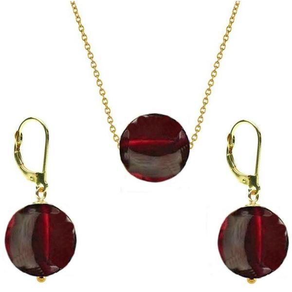 Set Aur 14 Karate si Granat de 12 mm – Cadouri si perle