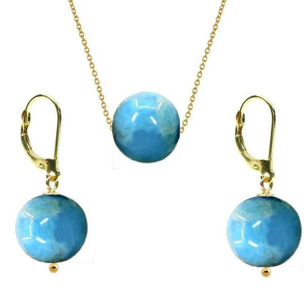 Set Aur 14 Karate si Apatit de 10 mm – Cadouri si perle